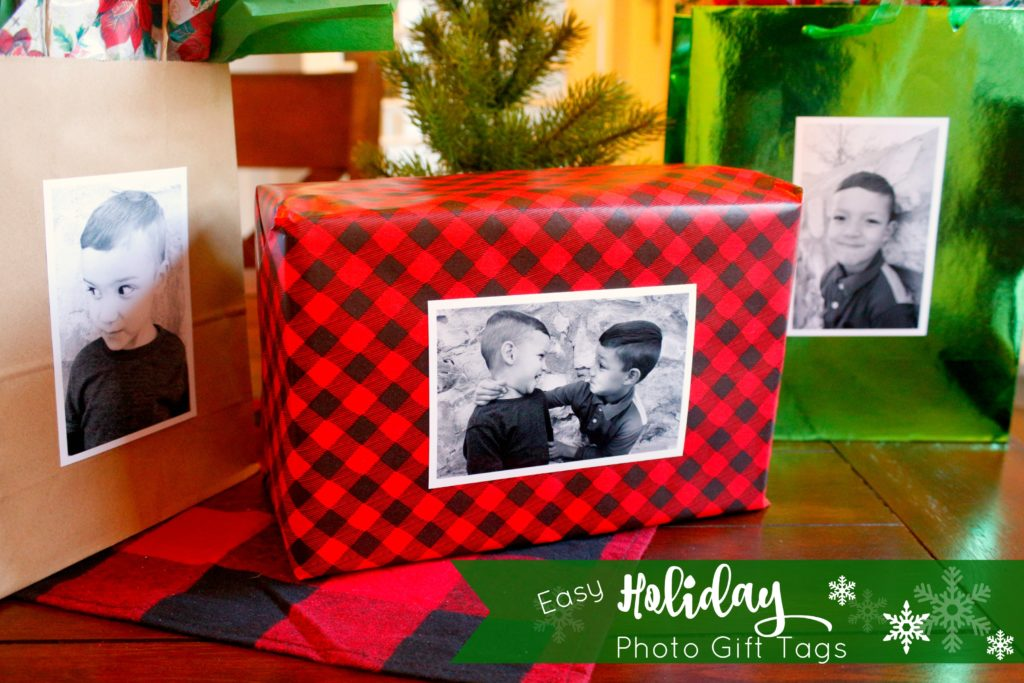 Easy Holiday Photo Gift Tags