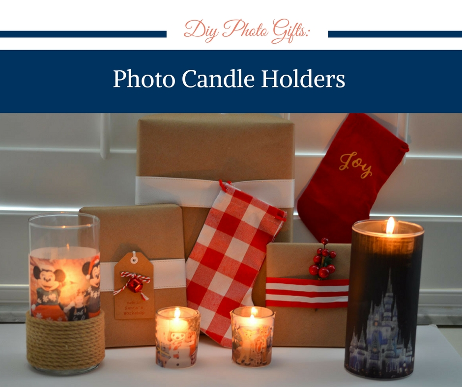 DIY Photo Gifts: Photo Candle Holders