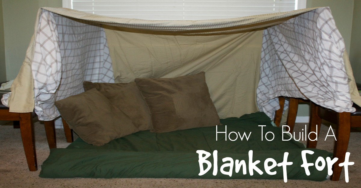 Step By Step Instructions On How To Make A Blanket Fort