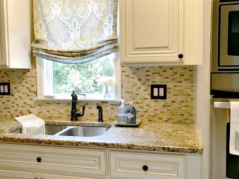 Kitchen Sink Refresh & DIY Stenciled Towels | Elle Olive & Co.