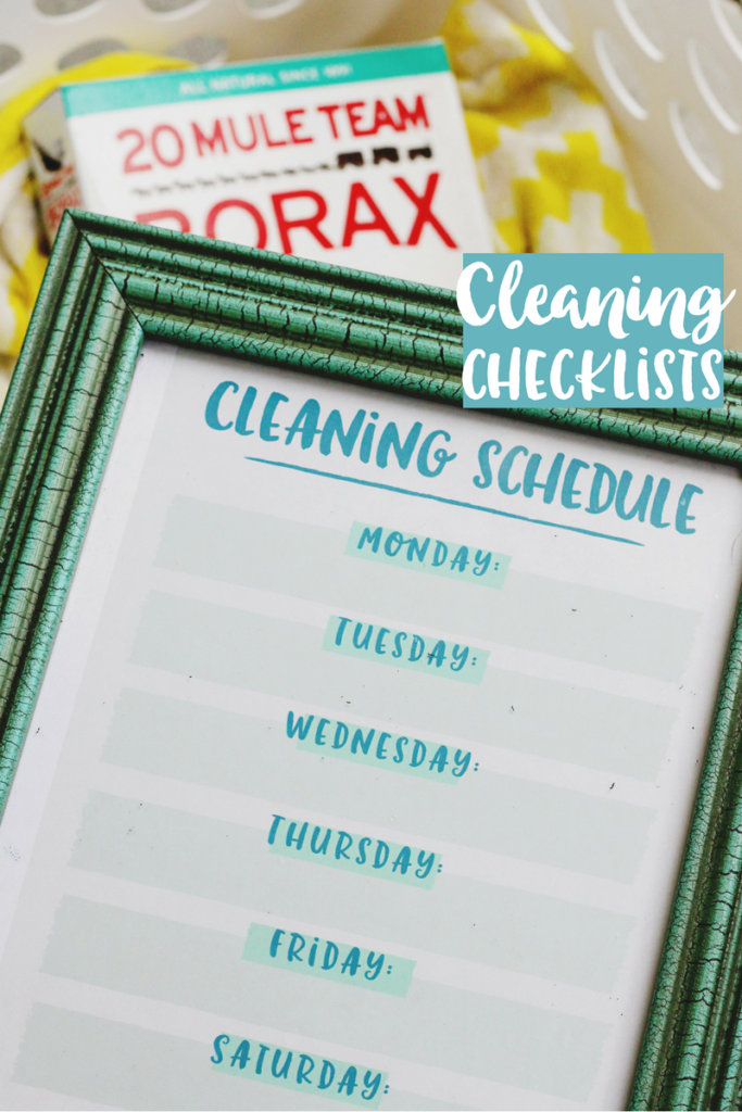 DIY Cleaning Checklists and Laundry Tips – Sunny Sweet Days