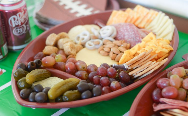 Host a Homegating Party with Football Inspired Cheese Board – Mommy Hates Cooking