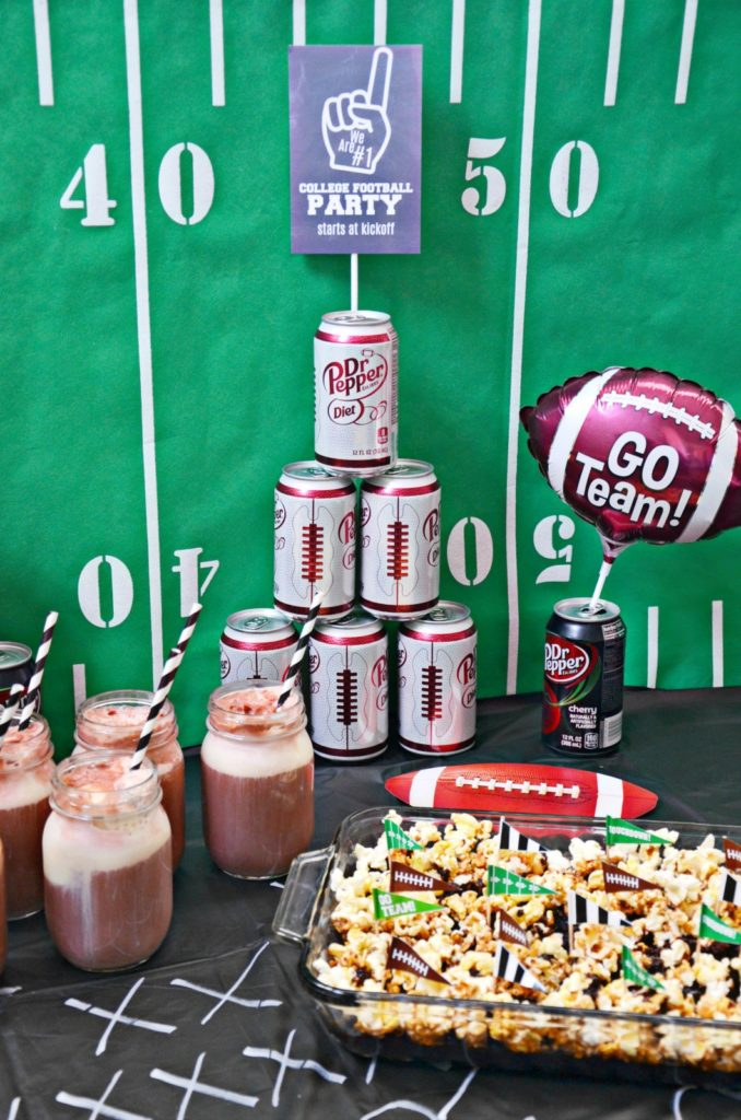 College Football Party Ideas | Dr Pepper Caramel Corn Cake – Brie Brie Blooms