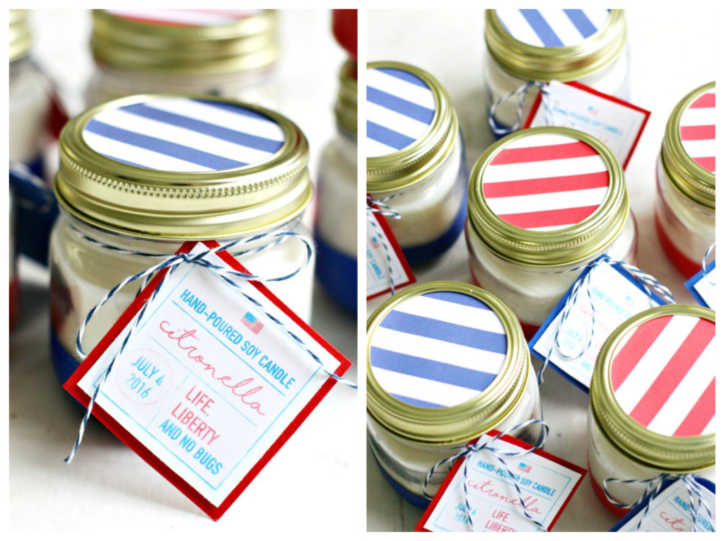 DIY Soy Citronella Candles for the 4th of July