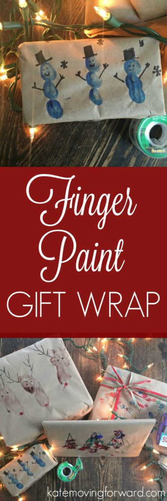 Finger Paint Gift Wrap