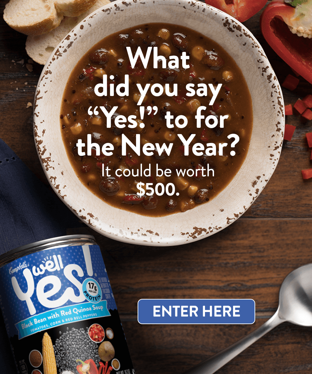 What did you say 'Yes!' to for this New Year? It could be worth $500.